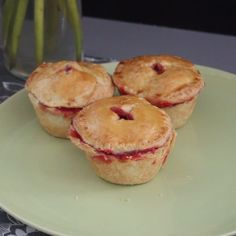 These mini pies are super portable and perfect for a picnic!