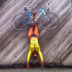 Biker and Yogi Pat Bailey rocks her Swish and her own Style.