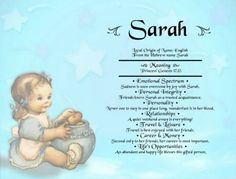 Baby Sarah Name Meaning