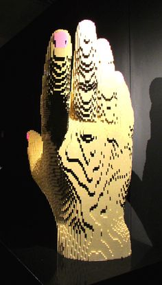 Art work by Nathan Sawaya -- all made from LEGO bricks! Love the detail of the painted nail. Of course. Nail Pink, Lego Brick, Bricks, Art Work, Detail, Painting, Artwork, Pink Nails, Work Of Art