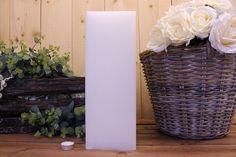 Κεριά μασίφ τετράγωνα σε χρώμα λευκό ΤΧ1540ΧΛΕ. Πλευρά: 15εκ. Ύψος: 40εκ. Wicker Baskets, Home Decor, Decoration Home, Room Decor, Woven Baskets, Interior Decorating