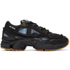 Raf Simons Black adidas Originals Edition Ozweego Bunny Sneakers (€350) ❤ liked on Polyvore featuring men's fashion, men's shoes and men's sneakers