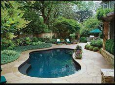 If you are working with the best backyard pool landscaping ideas there are lot of choices. You need to look into your budget for backyard landscaping ideas Small Swimming Pools, Small Backyard Pools, Small Pools, Swimming Pools Backyard, Swimming Pool Designs, Pool Landscaping, Pool Pavers, Swimming Ponds, Lap Pools
