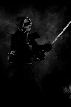 ♂ World martial art Kendo Japanese Fencing black & white