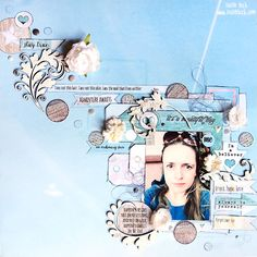 layout by Tusia Lech for July 2015 Scrap Around The World moodboard