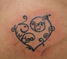 This, but in white ink. Place? Left pectoral over the heart