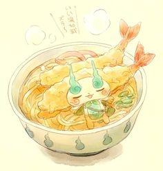 #Ramen udon crevette @YokaiWatchFR dessin de Sakiko Amana