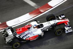 2011 GP Singapuru (Daniel Ricciardo) HRT F111 - Cosworth