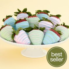 White chocolate covered strawberries for easter