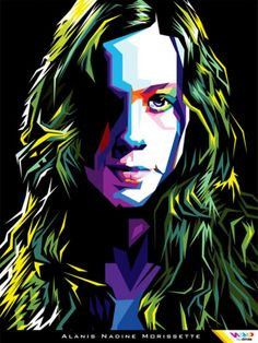 Alanis Morissette, Pop Art Portraits, Famous Singers, Sing To Me, Band Posters, Music Icon, Wall Prints, Painting & Drawing, Rock And Roll