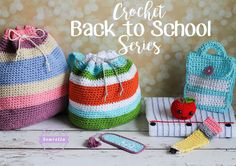 Go back to school with Sewrella's adorable crochet set! Get the patterns or buy the kit!