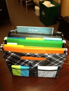 Hanging folders in the Fold & File.