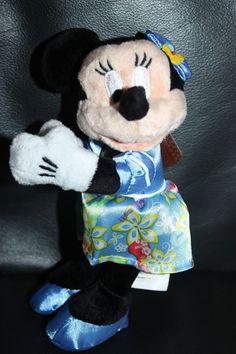 NEW Rare Disney Aulani Minnie Mouse Plush Magnet Hawaii Exclusive Aloha Wear