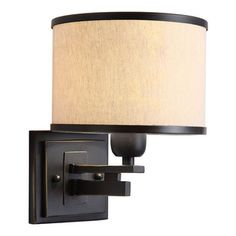 None - North Miami 1-light Black/ Beige Wall Sconce - Create a fashionable setting with this stylish sconce. This fixture features the North...