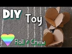 How To Make Homemade Rabbit-Guinea Pig Toy -Heart Roll & Chew-
