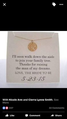 Mother of the groom gift idea