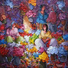 Pallette Knife Painting, Palette Knife, Figure Sketching, Turkish Art, Impressionist Paintings, Female Portrait, Love Art, Art Images, Art Sketches