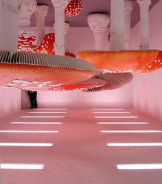 Upside-Down Mushroom Room by Carsten Höller