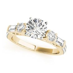 Transcendent Brilliance 14k Gold 1 3/8ct TDW Diamond 3-Stone Engagement Ring (G, VS2) (Yellow - Size 8), Women's, Pink