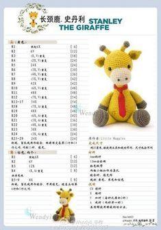 Diy Crafts - Mesmerizing Crochet an Amigurumi Rabbit Ideas. Lovely Crochet an Amigurumi Rabbit Ideas. Crochet Bunny Pattern, Giraffe Pattern, Crochet Amigurumi Free Patterns, Cute Crochet, Crochet Dolls, Crochet Baby, Amigurumi For Beginners, Crochet Disney, Crochet Gratis