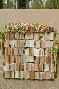 Books *in* the garden? These books have become part of the garden! What a beautiful spot!