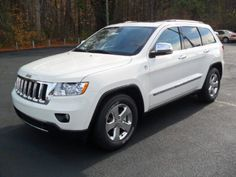 2012 Jeep Grand Cherokee Stone White - really really really want this car!!!