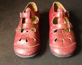 i had these buster brown shoes in every color-white, red, black, brown, blue, pink...and my mom had shoe polish in every color!