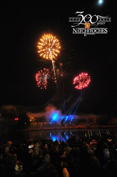 Natchitoches is know for its spectacular firework shows. www.NatchitochesChristmas.com