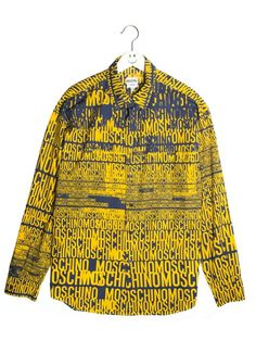 MOSCHINO VITNAGE 90S LOGO TYPOGRAPHY PRINT SHIRT @ nothing special 150 GBP