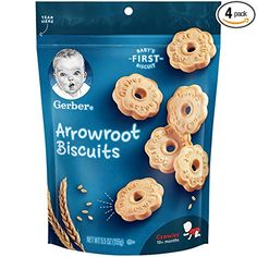 Gerber Graduates Arrowroot Cookies Pouch, 5.5 Ounce (Pack of 4): Amazon.com: Grocery & Gourmet Food Baby Snacks, No Bake Snacks, Toddler Snacks, Fruit Snacks, Baby Foods, Arrowroot Biscuits, Arrowroot Flour, Baby Cookies, Corn Syrup