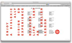 DISLEXICALLY DISIGNED - Sam Howard Graphic Design
