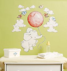 This adorable wall decor from Wallies will look so sweet and whimsical in babyu0027s nursery.  sc 1 st  Pinterest & 21 best Wallies Big Wall Peel u0026 Stickers images on Pinterest | Wall ...