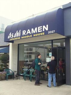 Asahi Ramen - 2027 Sawtelle Blvd, Los Angeles.  People line up down the block for a bowl of fresh made Ramen.