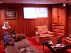 Design Tricks to Transform a Family Room with Wood Paneling