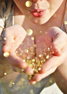 throw glitter and sparkles on the bride and groom instead of rice or birdseed.