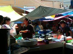El mercado de Malinalco de productos frescos de cultivo o recolección.