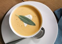 Butternut Squash and Sage Soup With Sage Cream | The Butcher's Block