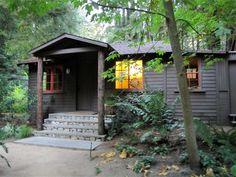 Luxe-rustic cabins at Glen Oaks, Big Sur