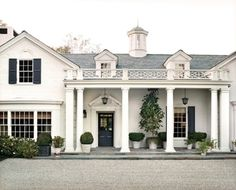 Navy Shutters On Pinterest Grey Exterior Paints Colonial House Exteriors A