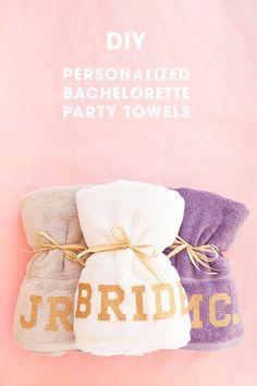 2e2372e14ff DIY Personalized Beach Towels for you Bachelorette Party! Bachelorette  Favors