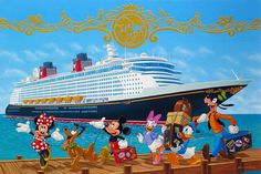 Fantasy Vacation: By Manuel Hernandez, Disney Fine Art