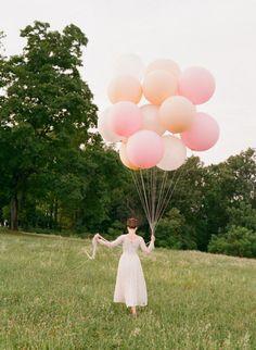 "Blush, Ivory, Pastel Pink, or White 36"" Round Latex Balloon   Latex Balloons   Pastel Balloons"