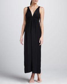 Donna Karan Silky Matte Satin Gown