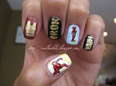 ...Nail Babble...: Movie Themed Nails: 1st edition...Iron Man