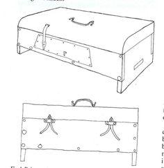 10th century Kaagården, Langeland, Denmark. Small chest (15cm wide x 38cm long x 8,5cm high.