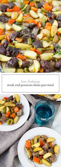 Gluten free, paleo and whole30 friendly, this Low Fodmap Steak and Potatoes Sheet Pan Meal is a savory and satisfying meal-in-one.