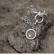 Island Charm Bracelet with beach sand