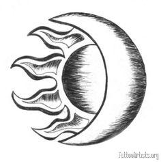 moon drawing simple sun drawings tattoo