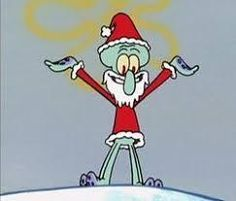 When Squidward dressed up as Santa for Spongebob for a day Spongebob Christmas, Christmas Cartoons, Christmas Humor, Christmas Collage, Christmas Icons, Xmas, Merry Christmas, Cartoon Profile Pictures, Cartoon Pics