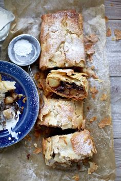 Pear, Sour-Cherry and Chocolate Strudel